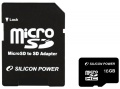Карта памяти Silicon Power microSD 16Gb Class10 SP016GBSTH010V10-SP<br>