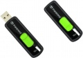 Флешка Transcend 16Gb Jet Flash 500 Retail TS16GJF500, USB 2.0 Черный/Зелёный