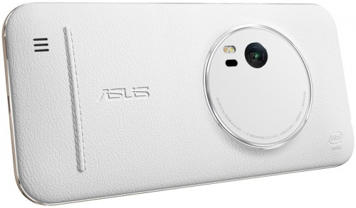 Чехол Asus ZenFone 2 Zoom Zen Case для ZX551ML, Кожа, Белый, White 90AC0100-BBC009