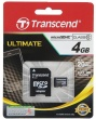 Карта памяти Transcend microSDHC 4Gb Class10 TS4GUSDHC10